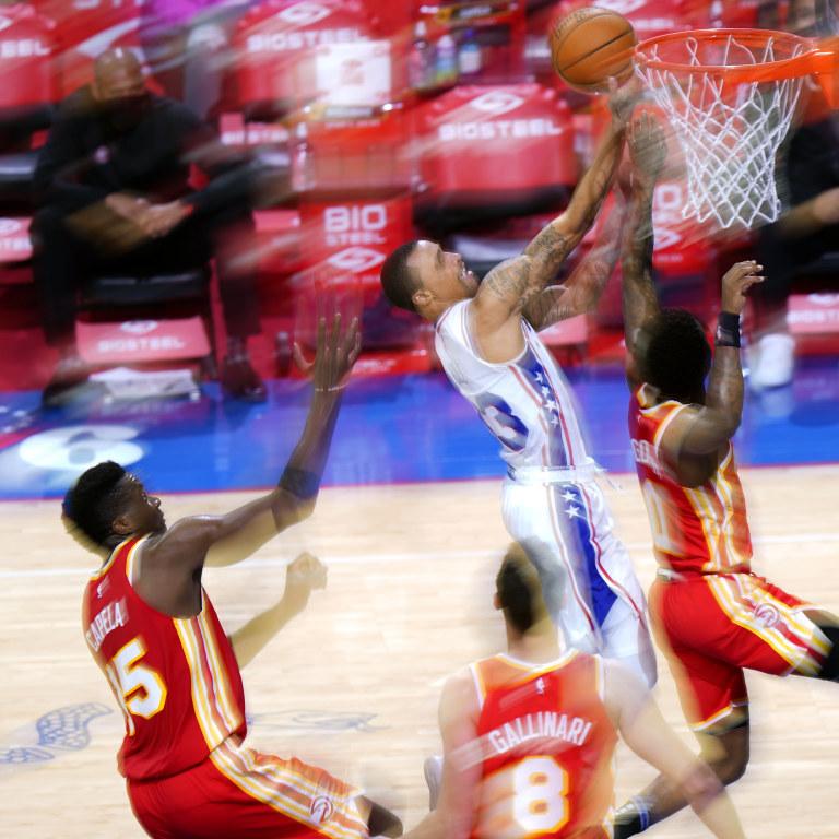 APTOPIX Hawks 76ers Basketball