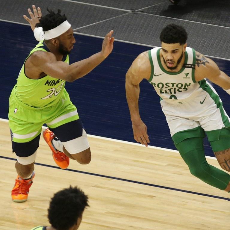 Celtics Timberwolves Basketball