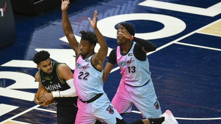 Heat Timberwolves Basketball