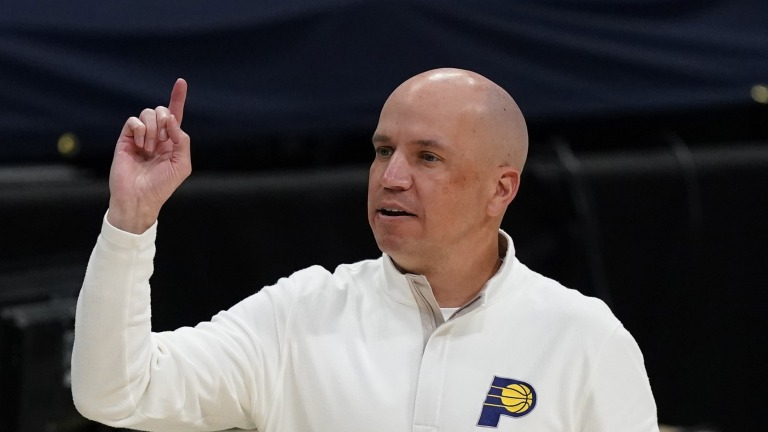 Pacers Bjorkman Fired Basketball