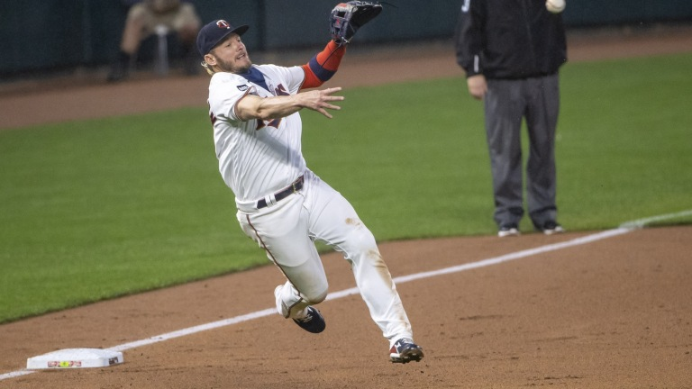 Tuesday, May 18: Josh Donaldson fields a ground ball and throws to first during the Minnesota Twins' 5-4 victory over the Chicago White Sox.