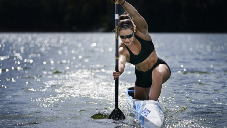 APTOPIX Canoe Sprint Teenage Contender