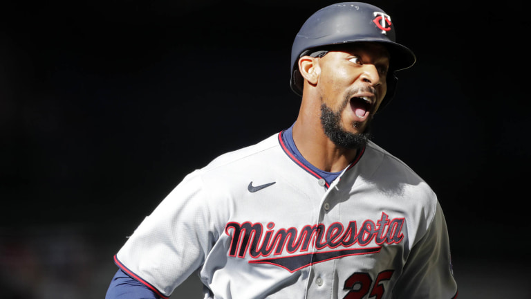 Thursday, April 1: Byron Buxton clobbered his first home run of the 2021 season during the Minnesota Twins' 6-5 loss to Milwaukee on opening day.