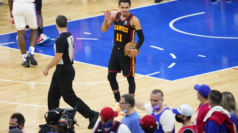 Hawks 76ers Basketball