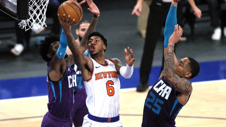 Hornets Knicks Basketball