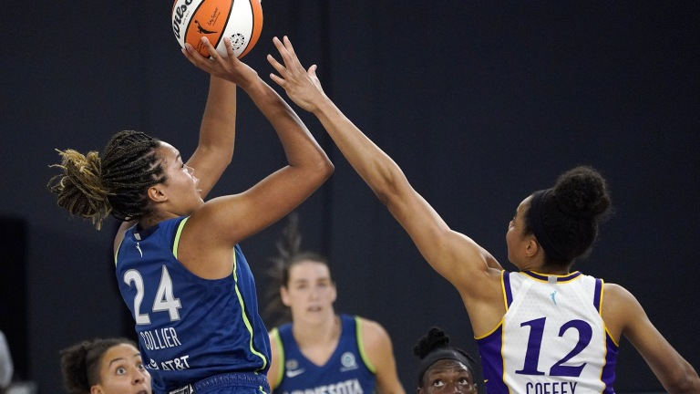 Sunday, July 11: Napheesa Collier tied a career best with 27 points in the Minnesota Lynx's seventh straight win, an 86-61 victory over the Los Angeles Sparks.