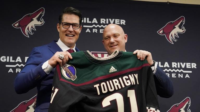 Coyotes Tourigny Hired Hockey