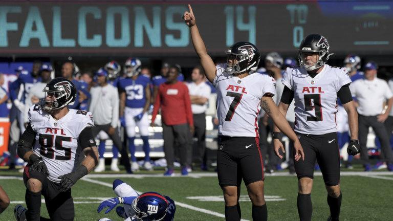 APTOPIX Falcons Giants Football