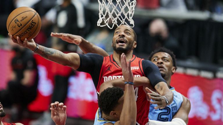 APTOPIX Grizzlies Trail Blazers Basketball