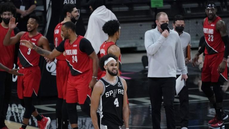 Trail Blazers Spurs Basketball