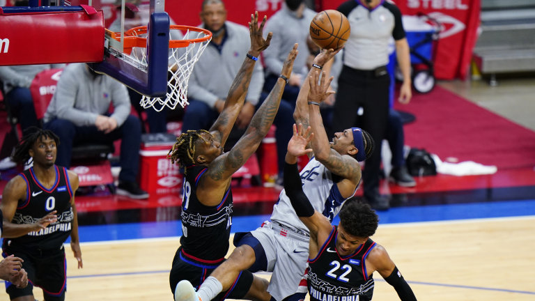 Wizards 76ers Basketball