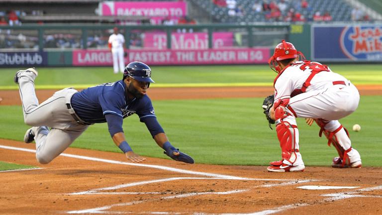 ADDITION APTOPIX Rays Angels Baseball