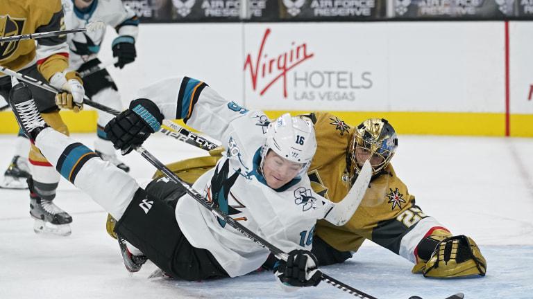 APTOPIX Sharks Golden Knights Hockey