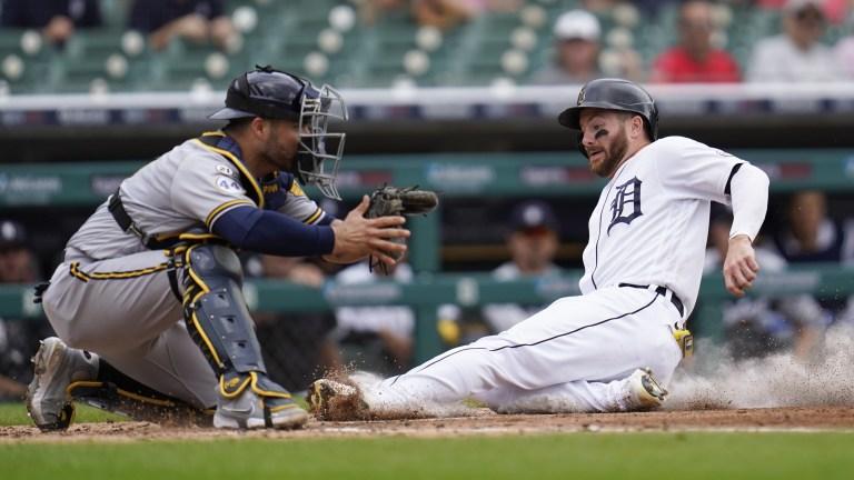APTOPIX Brewers Tigers Baseball
