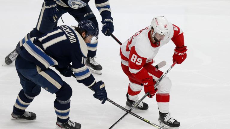 Red Wings Blue Jackets Hockey