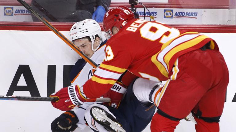 Oilers Flames Hockey