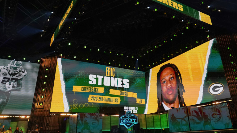Thursday, April 29: Green Bay selects Georgia cornerback Eric Stokes in the first round of the 2021 NFL draft.