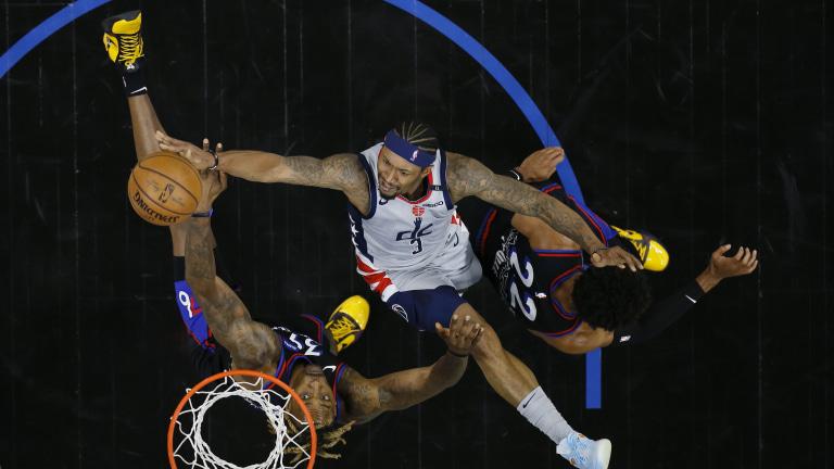 APTOPIX Wizards 76ers Basketball