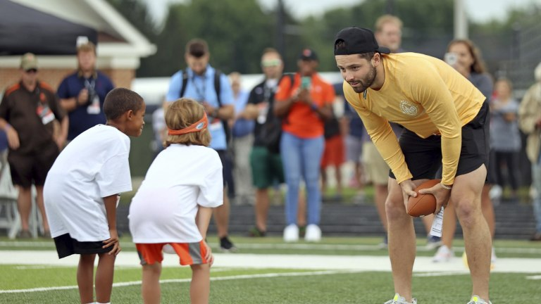 Browns Mayfield Camp Football