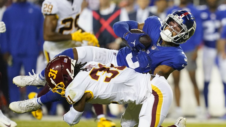 Giants WR Sterling Shepard recorded 9 catches for 94 yards. (AP Photo/Patrick Semansky)
