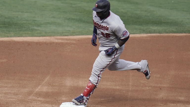 Thursday, May 20: Minnesota Twins' Miguel Sano runs the bases after hitting a grand slam against the Los Angeles Angels during the first inning of the second baseball game of a doubleheader.