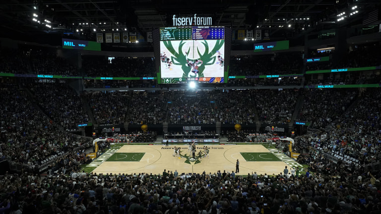 Sunday, July 11: A general view of Fiserv Forum as Game 3 of the NBA Finals between the Milwaukee Bucks and Phoenix Suns tipped off.