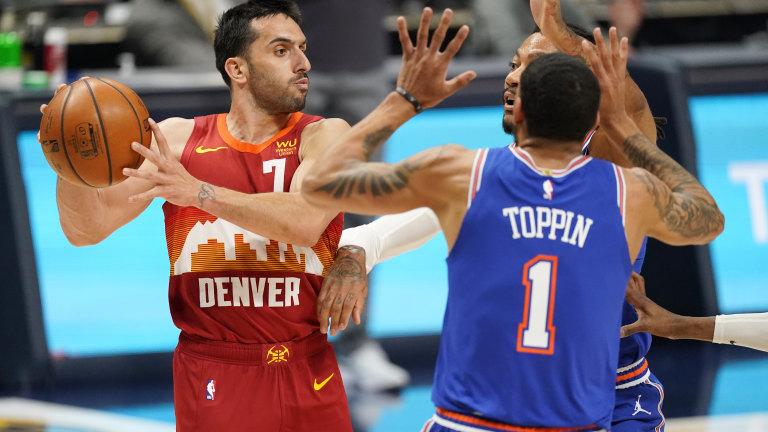 Knicks Nuggets Basketball