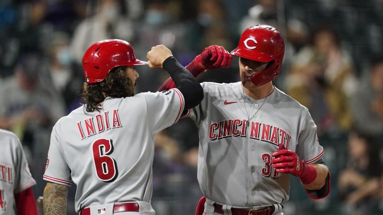 Reds Rockies Baseball