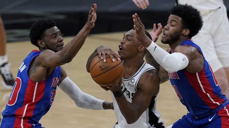 Pistons Spurs Basketball