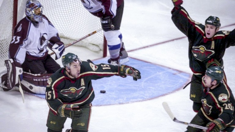 2003: Wild at Colorado W, 3-2 (OT) - Marian Gaborik and Andrew Brunette provided big thrills as the Wild shocked the Avs in the first round.