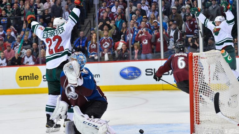 2014: Wild at Colorado W, 5-4 (OT) - Nino Niederreiter went top shelf on a 2-on-1 rush to clinch the first-round series.