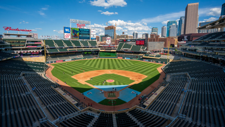 Tuesday, May 25: A general view of Target Field before the Minnesota Twins hosted the Baltimore Orioles.