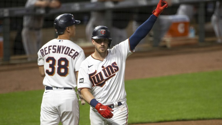 Monday, May 24: Mitch Garver celebrates a home run during Minnesota's 8-3 win over Baltimore at Target Field.