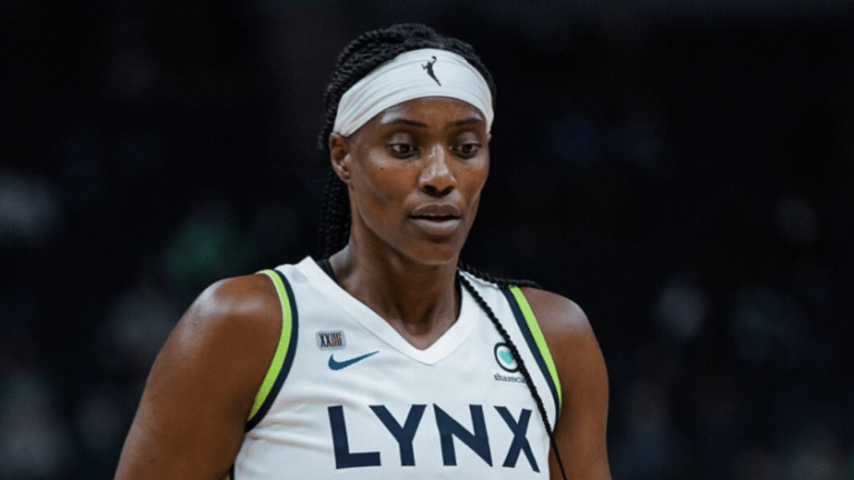 Friday, May 14: Sylvia Fowles walks to the bench during the Minnesota Lynx's 77-75 loss to Phoenix in the season opener.